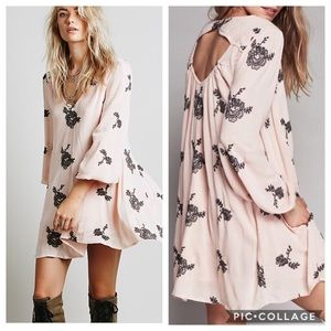 Free People | Embroidered Austin Dress in Pink